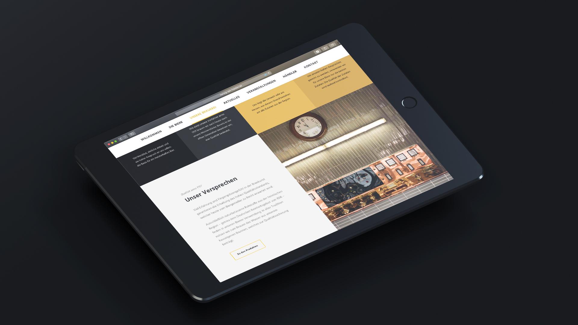 Website HvF Vorschau iPad